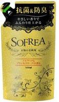 """Nihon """"Sofrea"""" Кондиционер для белья с антибактериальным эффектом, с благородным ароматом роскошной розы, сменная упаковка, 500 мл."""