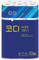 "Ssangyong ""Codi - New Deco"" Мягкая туалетная бумага, трехслойная, с тиснёным рисунком, 25 м * 30 рулонов."