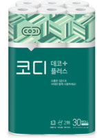 "Ssangyong ""Codi - Deco Plus"" Мягкая туалетная бумага, трехслойная, с тиснёным рисунком, 25 м * 30 рулонов."