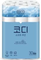 """Ssangyong """"Codi - Soft cushion"""" Ультрамягкая туалетная бумага, трехслойная, с тиснёным рисунком, 25 м * 30 рулонов."""