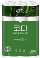 "Ssangyong ""Codi - Aloe"" Ультрамягкая туалетная бумага, с лосьоном алоэ вера, трехслойная, с тисненым рисунком, 30 м * 30 рулонов."