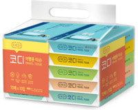 """Ssangyong """"Codi Travel Tissue"""" Компактные бумажные салфетки, двухслойные, 10 упаковок по 70 листов, 210 х 153 мм."""