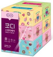 Ssangyong Двухслойные мягкие бумажные салфетки «Сладости», 200 шт. х 6 уп.