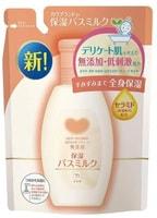 """COW """"Mutenka"""" Увлажняющее молочко для принятия ванны с церамидами и маслом рисовых отрубей, без добавок, сменная упаковка, 480 мл."""