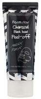 "FarmStay ""Charcoal Black Head Peel-off Mask Pack"" Очищающая маска-пленка с углем, 100 гр."