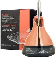 "FarmStay ""Salmon Oil & Peptide Vital Cream"" Омолаживающий крем с маслом лосося и пептидами, 50 гр."