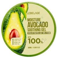 """Lebelage """"Moisture Avocado Purity 100% Soothing Gel"""" Увлажняющий успокаивающий гель с экстрактом авокадо, 300 мл."""