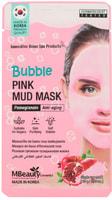 """MBeauty """"Bubble Pink Mud Mask"""" Омолаживающая очищающая пузырьковая маска для лица с глиной и экстрактом граната, 10 гр."""