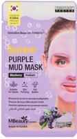 """MBeauty """"Bubble Purple Mud Mask"""" Освежающая очищающая пузырьковая маска для лица с глиной и экстрактом черники, 10 гр."""