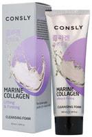 "Consly ""Marine Collagen Lifting Creamy Cleansing Foam"" Укрепляющая кремовая пенка для умывания с морским коллагеном, 100 мл."