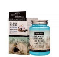 "FarmStay ""Black Pearl All-In-One Ampoule"" Многофункциональная ампульная сыворотка с черным жемчугом, 250 мл."
