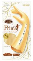 """ST """"Family Prima"""" Перчатки из винила для бытовых и хозяйственных нужд удлиненные, с антибактериальным эффектом, средней толщины, размер М, золотистое шампанское, 1 пара."""