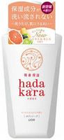"""Lion """"Hadakara"""" Увлажняющее жидкое мыло для тела, с ароматом смородины и цитрусов, с дозатором, 500 мл."""