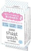 """Scottie """"Scottie"""" Влажные полотенца для обработки туалета, с антибактериальным эффектом, водорастворимые, с легким мятным ароматом, сменная упаковка, 220 мм х 320 мм, 10 шт."""