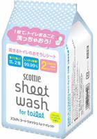 """Scottie """"Scottie"""" Влажные полотенца для обработки туалета, с антибактериальным эффектом, водорастворимые, с легким мятным ароматом, сменная упаковка, 220 мм х 320 мм, 10 шт. х 2 упаковки."""