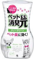 """Kobayashi """"Shoshugen for Pets Tea Green"""" Жидкий дезодорант для устранения запаха домашних животных, с ароматом зеленого чая, 400 мл."""
