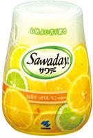 "Kobayashi ""Sawaday for Toilet Lemon"" Гелевый дезодорант для туалета, с ароматом лимона, 140 г."