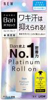 """Lion """"Ban Platinum Roll On"""" Влагостойкий дезодорант-антиперспирант, с ароматом цветочного мыла, 40 мл."""