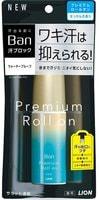 """Lion """"Ban Premium Gold Label"""" Премиальный дезодорант-антиперспирант роликовый, нано-ионный, с ароматом цветочного мыла, 40 мл."""