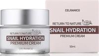 "Celranico ""Return To Nature Snail Hydration Premium Cream"" крем для лица с муцином улитки, 50 мл."