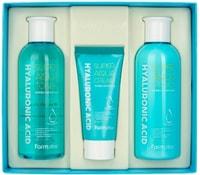 "FarmStay ""Hyaluronic Acid Super Aqua Skin Care"" Набор средств по уходу за кожей с гиалуроновой кислотой, 3 средства."