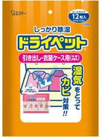 """ST """"Drypet"""" Средство для шкафов и комодов, устраняющее влагу, плесень, неприятные запахи с одежды и кожаных изделий, 12 шт. по 25 гр."""