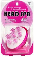 """Ikemoto """"Head Spa Brush"""" Щетка для массажа кожи головы и мытья волос, розовая."""