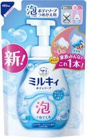 """COW """"Milky Foam Gentle Soap"""" Бархатное увлажняющее мыло-пенка для тела, с нежным ароматом цветочного мыла, мягкая упаковка, 480 мл."""