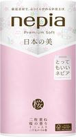 """Nepia """"Premium Soft"""" Туалетная бумага двухслойная с рисунком, с ароматом сакуры, 12 рулонов по 25 м."""