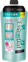 """KAO """"Essential Smart Blow Dry"""" Шампунь для защиты волос при сушке феном, с освежающим аква-цветочным ароматом, мягкая упаковка, 340 мл."""