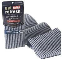 """Yokozuna """"Get refresh for men – Massageing"""" Мочалка-полотенце массажная для мужчин, сверхжёсткая, серо-синяя. Размер: 18х110см."""