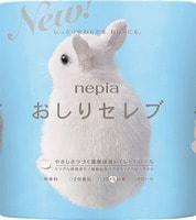 "Nepia ""Oshiri-Celeb"" Двухслойная туалетная бумага, без аромата, 40 м., 4 рулона."