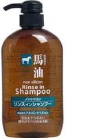 """Cosme Station """"Horse Oil Rinse in Shampoo"""" Шампунь-кондиционер, с лошадиным маслом, для поврежденных и ломких волос, 600 мл."""