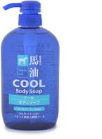 """Cosme Station """"Horse Oil Cool Body Soap"""" Жидкое мыло для тела, с лошадиным маслом и охлаждающим эффектом ментола, 600 мл."""