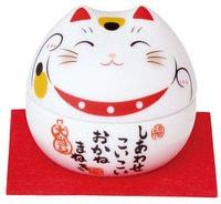 "Yakushigama ""Манэки-Нэко - Кот Счастья"", шкатулка, красный воротничёк."