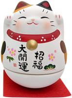 "Yakushigama ""Манэки-Нэко - Кот Счастья"", шкатулка-неваляшка, разноцветные ушки."