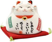 "Yakushigama ""Манэки-Нэко - Кот Счастья"", чашка, белая."