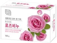 """Mukunghwa """"Rose Beauty Soap"""" Успокаивающее и увлажняющее туалетное мыло с экстрактом дамасской розы, 100 гр."""