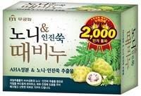"""Mukunghwa """"Noni & Foremost mugwort Body Soap"""" Отшелушивающее и успокаивающее мыло для тела с экстрактом нони, 100 гр."""