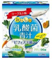 """Yuwa """"Аодзиру со вкусом йогурта"""" Напиток из порошка молодых листьев ячменя + экстракты 96 видов растительных ферментов, с молочнокислыми бактериями, 20 шт. по 3 гр."""