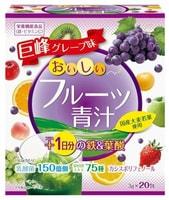 """Yuwa """"Аодзиру с фруктами"""" Напиток из порошка молодых листьев ячменя + экстракты 75 видов растительных ферментов, вкус винограда и клубники, 20шт. по 3 гр."""