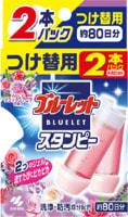 """Kobayashi """"Bluelet Stampy Relaxing Aroma"""" Дезодорирующий очиститель-цветок для туалетов, с цветочным ароматом, запасной блок, 28 гр., 2 шт."""