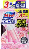 """Kobayashi """"Bluelet Stampy Floral"""" Дезодорирующий очиститель-цветок для туалетов, с нежным ароматом роз, запасной блок , 28 гр., 3 шт."""