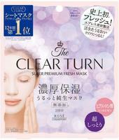 "Kose Cosmeport ""Clear Turn Premium Fresh Mask Super Moist"" Тканевая маска для лица освежающая и суперувлажняющая, 3 шт."