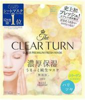 """Kose Cosmeport """"Clear Turn Premium Fresh Mask Firm&Shiny"""" Тканевая маска для лица освежающая и повышающая упругость, 3 шт."""