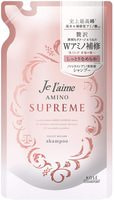 """Kose Cosmeport """"Je l'aime Amino Supreme Velvet Mellow"""" Восстанавливающий шампунь для поврежденных и волос, с нежным ароматом розы и жасмина, сменная упаковка, 350 мл."""
