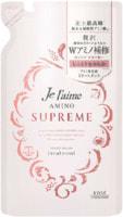 """Kose Cosmeport """"Je l'aime Amino Supreme Velvet Mellow"""" Восстанавливающий кондиционер для поврежденных и волос, с нежным ароматом розы и жасмина, сменная упаковка, 350 мл."""