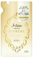 """Kose Cosmeport """"Je l'aime Amino Supreme Satin Sleek"""" Шампунь для волос cмягчающий, с нежным ароматом розы и жасмина, сменная упаковка, 350 мл."""