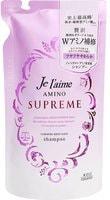 """Kose Cosmeport """"Je l'aime Amino Supreme Cashmere"""" Увлажняющий шампунь для поврежденных волос, с нежным ароматом розы и жасмина, сменная упаковка, 350 мл."""