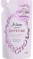 """Kose Cosmeport """"Je l'aime Amino Supreme Cashmere"""" Увлажняющий кондиционер для поврежденных волос, с нежным ароматом розы и жасмина, сменная упаковка, 350 мл."""